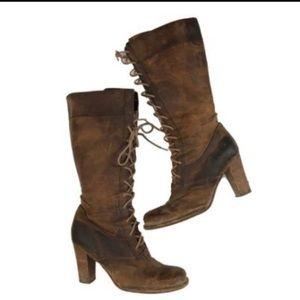 🔥Frye Village Zip Up Lace Up ZIP Boots  🤠 👢